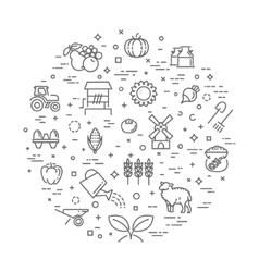 Farm product organic food concept vector image
