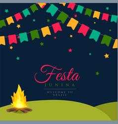 Festa junina brazil festival background vector