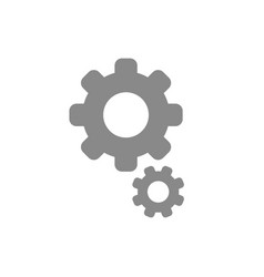 flat design style of gears icon on white vector image