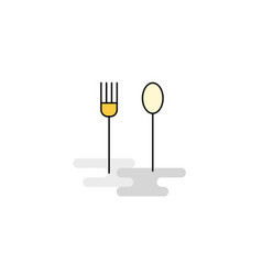 flat fork and spoon icon vector image