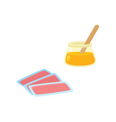 flat hair removal tools icon set vector image
