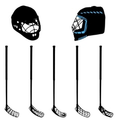 floorball equipment for a logo or a cup vector image