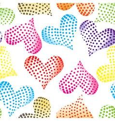 floral pastel pink pattern heart background seamle vector image