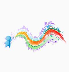 Gadget people color streams vector