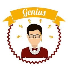 Genius design vector