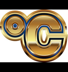 Golden Celcius Symbol vector