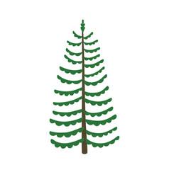 green xmas tree isolated on white tree vector image