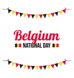 greeting card for belguim national day vector image