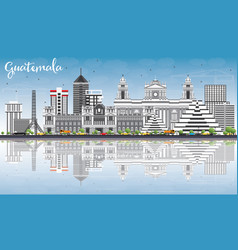 guatemala skyline with gray buildings blue sky vector image