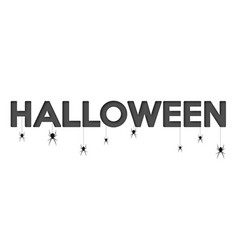 Happy halloween lettering holiday calligraphy vector