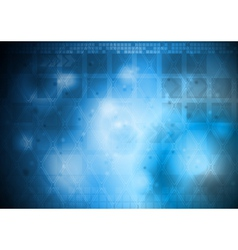 Hi-tech abstract design vector image