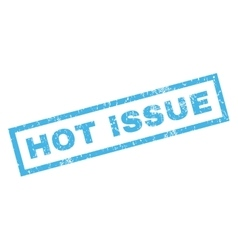 Hot Issue Rubber Stamp vector