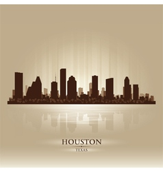 Houston Texas skyline city silhouette vector image