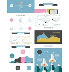 infographics set in the style of a hipster vector image