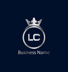 initial letter lc logo template design vector image