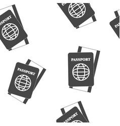 International passport with ticket seamless vector
