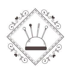 isolated tailor shop needle design vector image