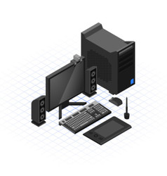 Isometric Computer Set vector image