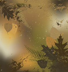 Leaf autumn - background vector image
