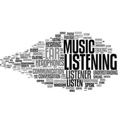 Listener word cloud concept vector