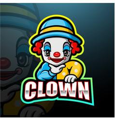 Little clown boy esport logo design vector