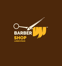 Logo and emblem for the barber shop elements to vector