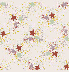 Magical space stars background seamless vector