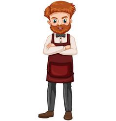 Man with brown beard vector
