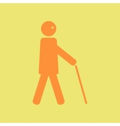Man with stick vector