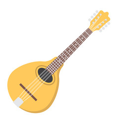 mandolin flat icon music and instrument vector image