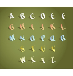 Paper Alphabets vector image
