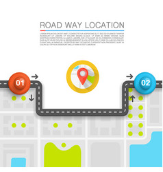 Paved path on road vector