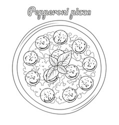 Pepperoni pizza with sausages object for vector