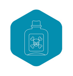 poison icon outline style vector image
