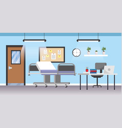 professional hospital room with first aid and vector image