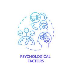 Psychological factors concept icon vector