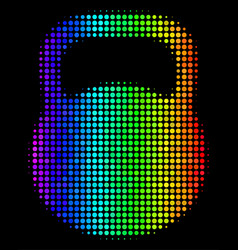 rainbow colored dot weight icon vector image