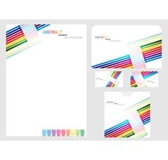 Rainbow company identity template vector