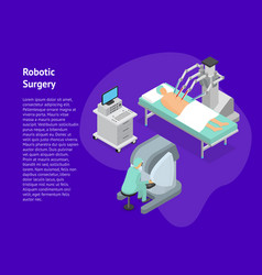robotic surgery concept 3d card isometric view vector image