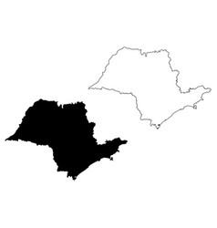 sao paulo state map vector image