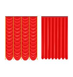scarlet theatre drapery vector image