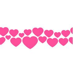 seamless line hearts valentine s day design vector image