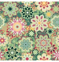 Seamless retro kaleidoscope flower background vector