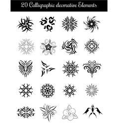 Set of calligraphic decorative elements vector image vector image
