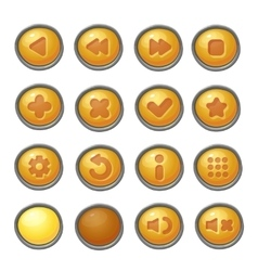 set red buttons game icons vector image