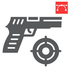 Shooter game glyph icon video games and gun vector