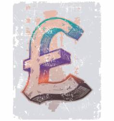Sign on pound sterling vector
