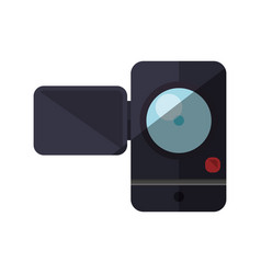 Small camcorder camera vector