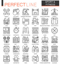 Sport and fitness outline concept symbols perfect vector