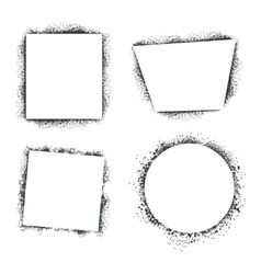 Spray texture frames set isolated on white vector image